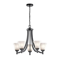 Kichler 43631BK Serena 5 Light 25 inch Black Chandelier Ceiling Light