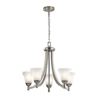 Serena 5 Light 25 inch Brushed Nickel Chandelier Ceiling Light