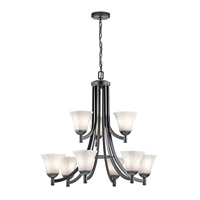 Kichler 43632BK Serena 9 Light 30 inch Black Chandelier Ceiling Light