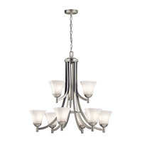 Serena 9 Light 30 inch Brushed Nickel Chandelier Ceiling Light
