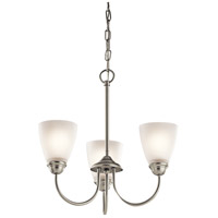 Kichler Jolie 3 Light Mini Chandelier in Brushed Nickel 43637NI