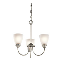 Kichler 43637NIL16 Jolie LED 18 inch Brushed Nickel Mini Chandelier Ceiling Light