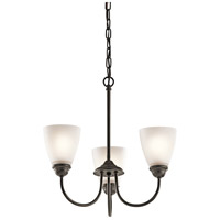 Kichler 43637OZ Jolie 3 Light 18 inch Olde Bronze Mini Chandelier Ceiling Light
