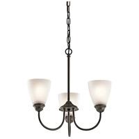Kichler 43637OZL18 Jolie LED 18 inch Olde Bronze Mini Chandelier Ceiling Light