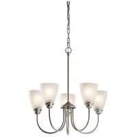 Jolie 5 Light 22 inch Brushed Nickel Chandelier 1 Tier Medium Ceiling Light