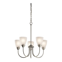 Jolie LED 22 inch Brushed Nickel Chandelier Ceiling Light, Medium