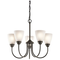 Kichler 43638OZ Jolie 5 Light 22 inch Olde Bronze Chandelier 1 Tier Medium Ceiling Light