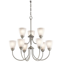 Kichler Jolie 9 Light Chandelier 2 Tier in Brushed Nickel 43639NI