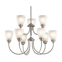 Jolie LED 28 inch Brushed Nickel Chandelier Ceiling Light, Large