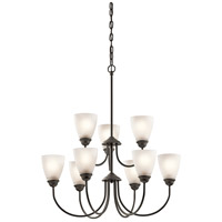 Kichler 43639OZ Jolie 9 Light 28 inch Olde Bronze Chandelier 2 Tier Ceiling Light
