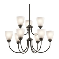 Kichler 43639OZL16 Jolie LED 28 inch Olde Bronze Chandelier Ceiling Light, Large
