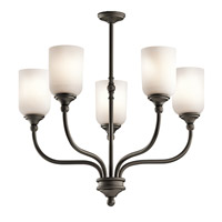 Kichler 43651OZ Lilah 5 Light 24 inch Olde Bronze Chandelier 1 Tier Medium Ceiling Light