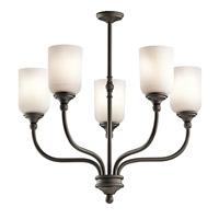 Kichler 43651OZ Lilah 5 Light 24 inch Olde Bronze Chandelier 1 Tier Medium Ceiling Light