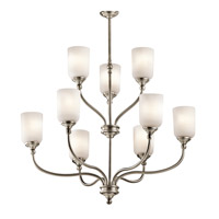Lilah 9 Light 30 inch Antique Pewter Chandelier 2 Tier Ceiling Light