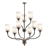 Kichler 43652OZ Lilah 9 Light 30 inch Olde Bronze Chandelier 2 Tier Ceiling Light
