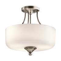 Lilah 3 Light 14 inch Antique Pewter Semi Flush Ceiling Light
