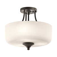 Kichler 43655OZ Lilah 3 Light 14 inch Olde Bronze Semi Flush Ceiling Light