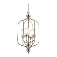 Lilah 4 Light 17 inch Antique Pewter Chandelier Foyer Ceiling Light