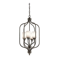 Kichler 43657OZ Lilah 4 Light 17 inch Olde Bronze Chandelier Foyer Ceiling Light