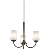 Kichler 43664OZ Aubrey 3 Light 22 inch Olde Bronze Chandelier 1 Tier Small Ceiling Light