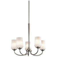 Kichler Aubrey 5 Light Chandelier 1 Tier Medium in Brushed Nickel 43665NI