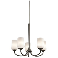 Kichler 43665OZ Aubrey 5 Light 25 inch Olde Bronze Chandelier 1 Tier Medium Ceiling Light