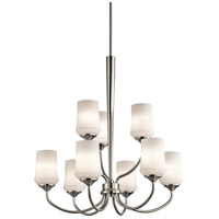 Kichler Aubrey 9 Light Chandelier 2 Tier in Brushed Nickel 43666NI