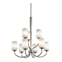 Kichler 43666NI Aubrey 9 Light 29 inch Brushed Nickel Chandelier 2 Tier Ceiling Light alternative photo thumbnail