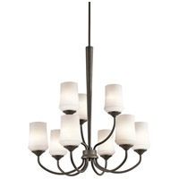 Kichler 43666OZ Aubrey 9 Light 29 inch Olde Bronze Chandelier 2 Tier Ceiling Light in Standard