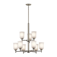 Kichler 43672NI Shailene 9 Light 26 inch Brushed Nickel Chandelier 2 Tier Ceiling Light