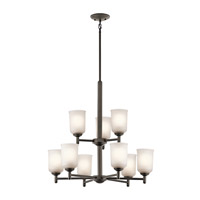 Kichler 43672OZ Shailene 9 Light 26 inch Olde Bronze Chandelier 2 Tier Ceiling Light