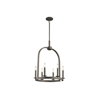 Kichler Daria 6 Light Chandelier in Olde Bronze 43676OZ