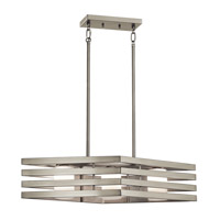 Kichler 43686NI Realta 3 Light 10 inch Brushed Nickel Chandelier Linear (Single) Ceiling Light