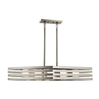 Kichler Realta 5 Light Chandelier Linear (Single) in Brushed Nickel 43687NI