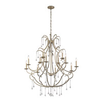 Kichler 43690SGD Shelsley 12 Light 45 inch Sterling Gold Chandelier Ceiling Light
