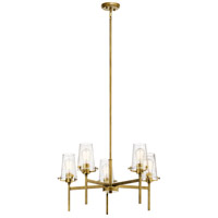 Kichler 43694NBR Alton 5 Light 27 inch Natural Brass Chandelier Ceiling Light