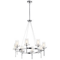 Kichler 43695CH Alton 8 Light 38 inch Chrome Chandelier Ceiling Light 1 Tier Large