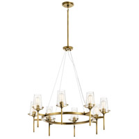 Kichler 43695NBR Alton 8 Light 38 inch Natural Brass Chandelier Ceiling Light