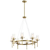 Kichler 43695NBR Alton 8 Light 38 inch Natural Brass Chandelier Ceiling Light