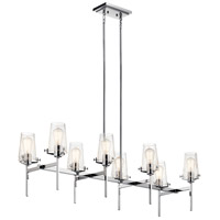 Kichler 43696CH Alton 8 Light 17 inch Chrome Chandelier Linear (Double) Ceiling Light