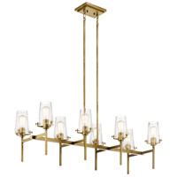Kichler 43696NBR Alton 8 Light 17 inch Natural Brass Chandelier Ceiling Light
