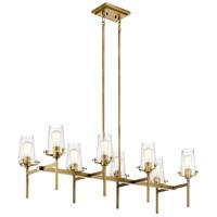 Kichler 43696NBR Alton 8 Light 17 inch Natural Brass Chandelier Ceiling Light