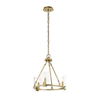 Kichler 43700NBR Signata 3 Light 18 inch Natural Brass Mini Chandelier Ceiling Light