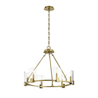 Kichler 43701NBR Signata 6 Light 26 inch Natural Brass Chandelier Ceiling Light