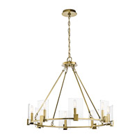 Signata 8 Light 3 inch Natural Brass Chandelier Ceiling Light