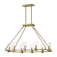 Signata 8 Light 18 inch Natural Brass Chandelier Ceiling Light