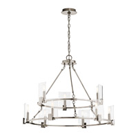 Kichler 43704CLP Signata 9 Light 33 inch Classic Pewter Chandelier Ceiling Light