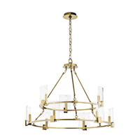 Signata 9 Light 33 inch Natural Brass Chandelier Ceiling Light