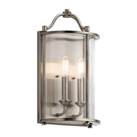 Kichler 43710CLP Emory 2 Light 9 inch Classic Pewter Wall Sconce Wall Light