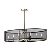 Kichler 43712PN Titus 8 Light 17 inch Polished Nickel Chandelier Ceiling Light